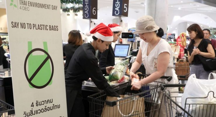 """Government of Thailand Backs Retailers """"No Plastic"""" Campaign"""