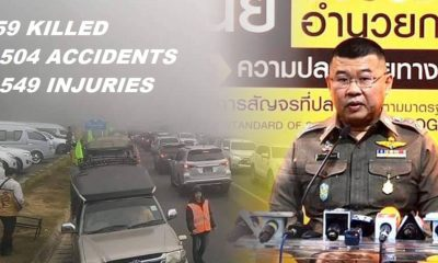 """Days 4 – Songkrans """"7 Dangerous Days"""" 2,449 accidents, 248 Killed and 2,557 Injured"""