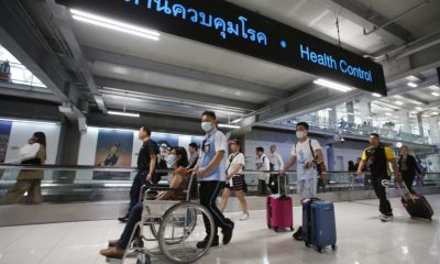 The Scene at Thailand's Don Muang Airport Chaotic