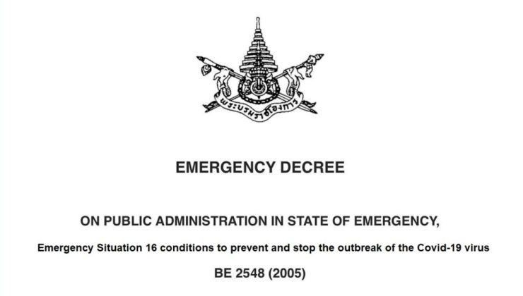 state of emergency Thailand