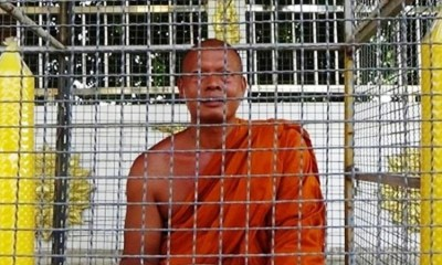 Temple Monk, Thailand, Cage, Punishmnet, Loud Sermons, Thailand