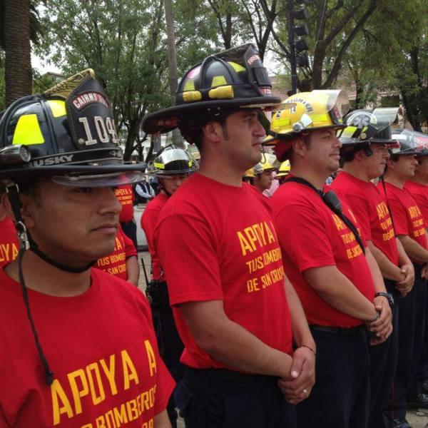Bomberos piden reconocimiento al Patronato que los representa, y pago de sus salarios. Foto: Archivo Bomberos de San Cristóbal