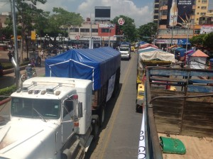 Transportitas de la CTM se manifiestas en el centro de Tuxtla Gutiérrez. Foto: Isaín Mandujano/Chiapas PARALELO