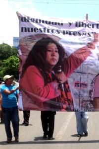 Detenida por la PGJE de Chiapas, Adela Gómez se encuentra en el penal de El Amate. Su crimen la defensa de los sectores desprotegidos. Foto: Isaín Mandujano/Chiapas PARALELO