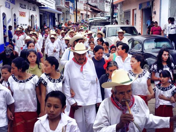Celebran en Copainalá los 16 años de su radiodifusora. Foto: Xecopa/ Chiapas Paralelo.