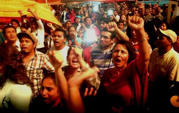 Maestros y maestras dan el Grito de Resistencia en Chiapas. Y declaran el inició de la segunda fase de lucha. Foto: Isaín Mandujano/Chiapas PARALELO