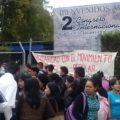 Estudiantes de la Facultad de Ciencias Sociales se unieron al paro magisterial. Foto: Amalia Avendaño/Chiapas PARALELO