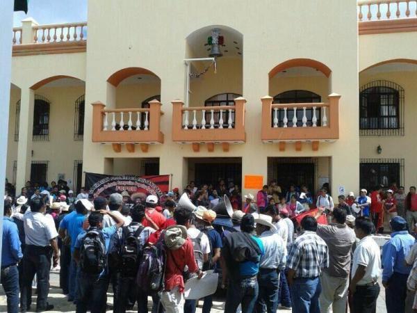Aspi lucía el martes 08 la alcaldía de Las Margaritas. Foto Tania Ávalos/Chiapas PARALELO