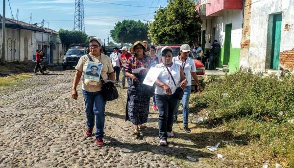 Madres de migrantes centroamericanos desaparecidos, recorren Chiapas. Foto: MMM