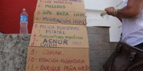 """""""Viacrusis del Migrante"""" hecho por el activista."""