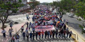 Maestros de la CNTE demandan reinstalación de la Mesa Única de Negociación. Foto: José Alfredo Barrios/Cortesía