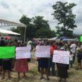 Mujeres del Soconusco piden a gobernador detener la minería. Foto: Cortesía