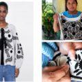 La chamarra que vende la marca Zara (izq) toma el diseño de los bordados de la comunidad de Aguatenango, Chiapas (der).