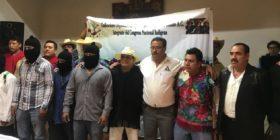 Los presuntos zapatistas que dijeron se sumaban a Albores Gleason. Foto: Archivo