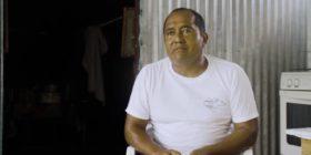Víctor de Jesús Zavala de los Santos, vivió durante 15 días bajo un árbol de almendras debido a los daños que le ocasionó el terremoto del 7 de septiembre del 2017.
