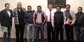 Andrés Manuel López Obrador y dirigentes estatales de la CNTE