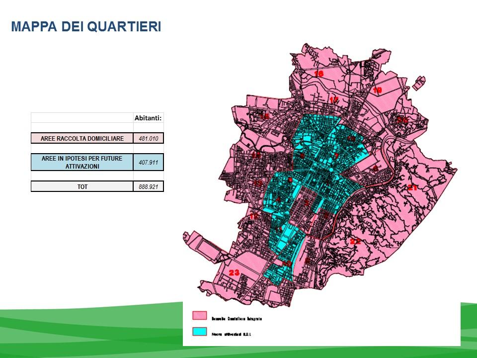 Mappa raccolta differenziata porta a porta torino