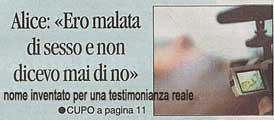prima pagina corriere romana