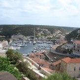 Vue sur le port de Bonifacio