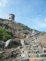 L'escalier qui monte à la tour