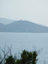 D'ici, on peut apercevoir la tour de Castagna, interdite au public.