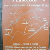 La pancarte du parcours