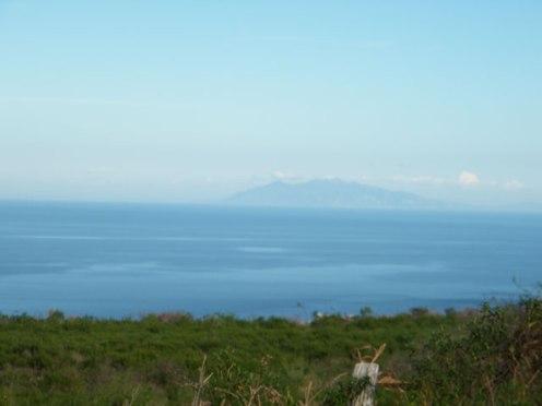 Vue sur la mer et les îles Italiennes