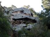 Un rocher plein de tafoni