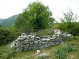 Une bergerie en ruines au retour