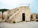 L'entrée de la tour depuis le toit