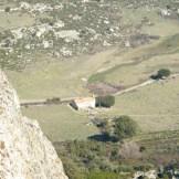 Vue sur la chapelle depuis Capu Bracaghju