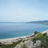 Sur sur la plage du Liamone