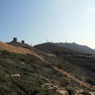 Au départ, le Col de Serra
