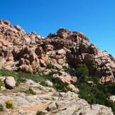 Des roches rouges