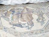 Les mosaïques sous les thermes