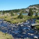 Des cours d'eau entre les lacs