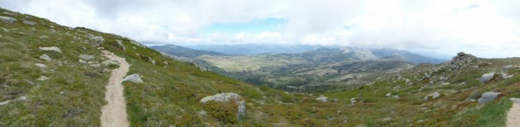Panorama sur le Cuscionu