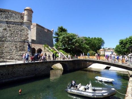 Face au château de Collioure