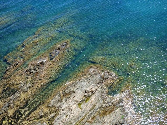 L'eau est turquoise