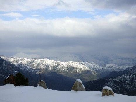 La Haute-Corse sous la neige