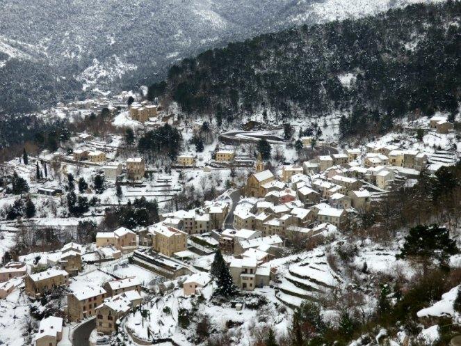 Vivario sous la neige