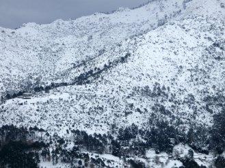 La neige a changé le paysage
