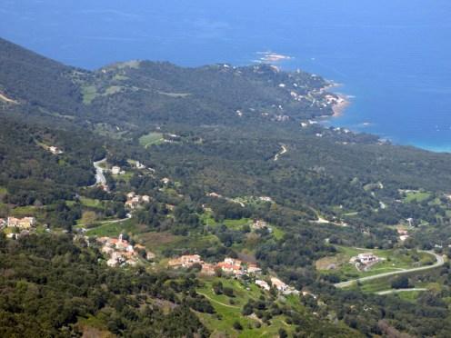 Le village de Calcatoggio