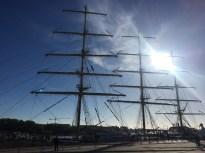 Un navire russe à quai