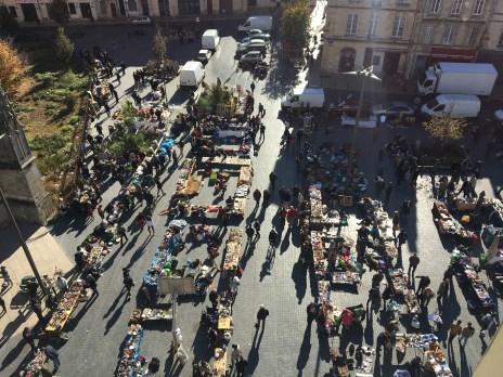 Vue sur le marché Saint-Michel