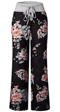 AMiERY Women's Casual Pajama Pants Floral 4