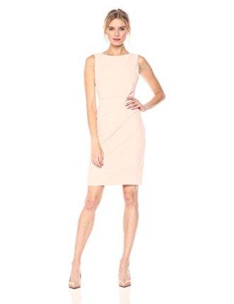 Calvin Klein Women's Round Neck Sleeveless Sheath