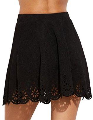SheIn Women's Basic Solid Flared Mini Skater Skirt 7