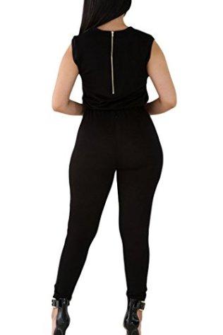 Meenew Womens Sleeveless Broken Hole Tie Waist Long Pants Jumpsuit Romper 3