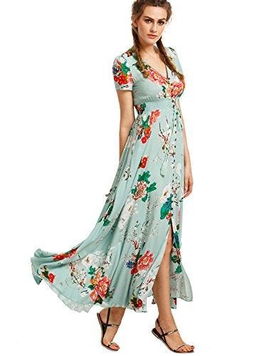 Milumia Women's Button up Split Floral Print